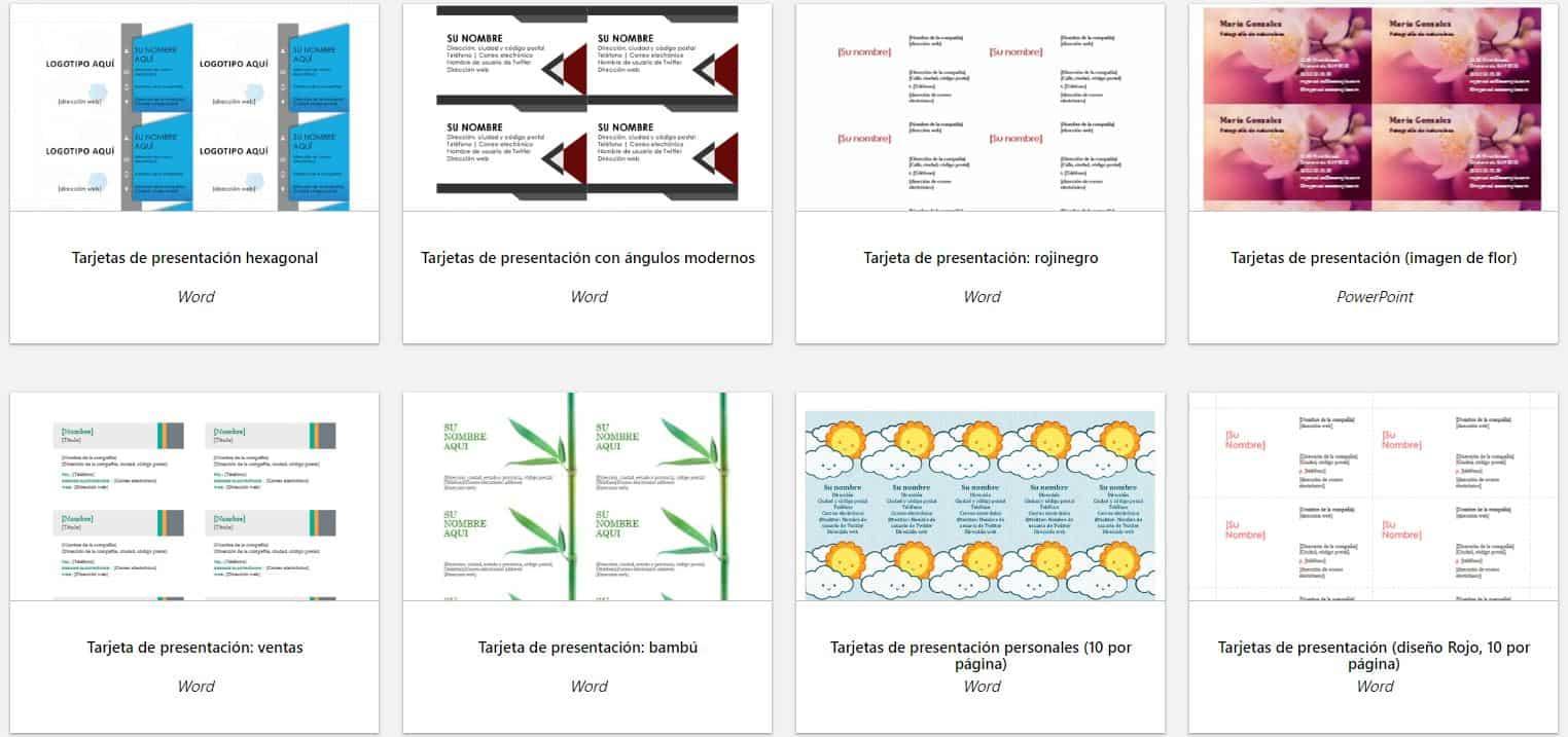 plantillas para tarjetas word