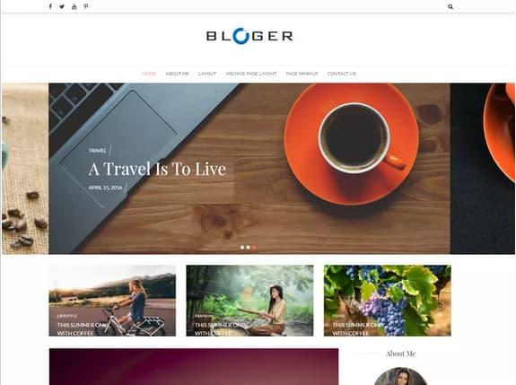 blog para wordpress plantilla free