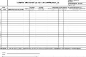 Control visitas comerciales en Excel