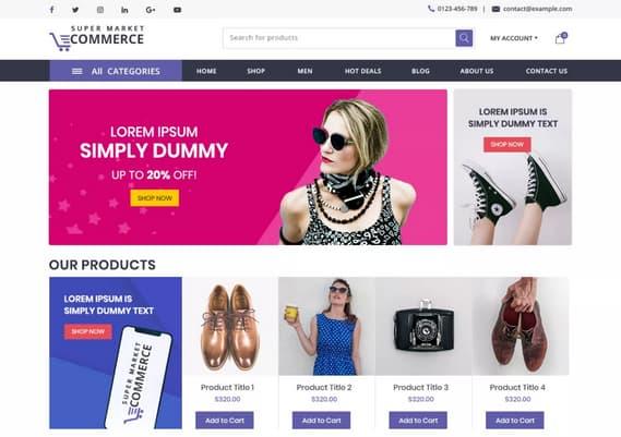 wordpress plantilla ecommerce gratis