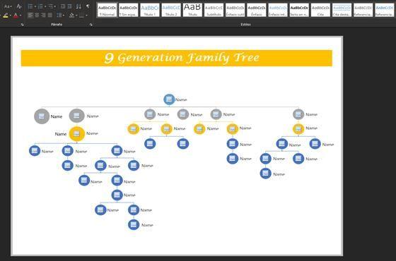 plantilla genograma online