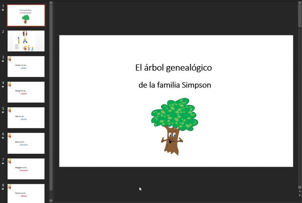arbol genealogico plantilla powerpoint