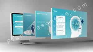 Plantilla de Powerpoint para la gestión de ventas corporativas