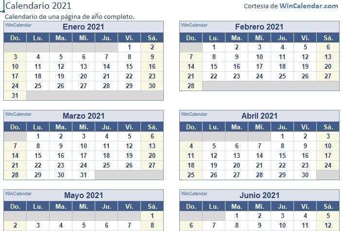 ▷ Descargar Calendario Excel 2021【GRATIS】