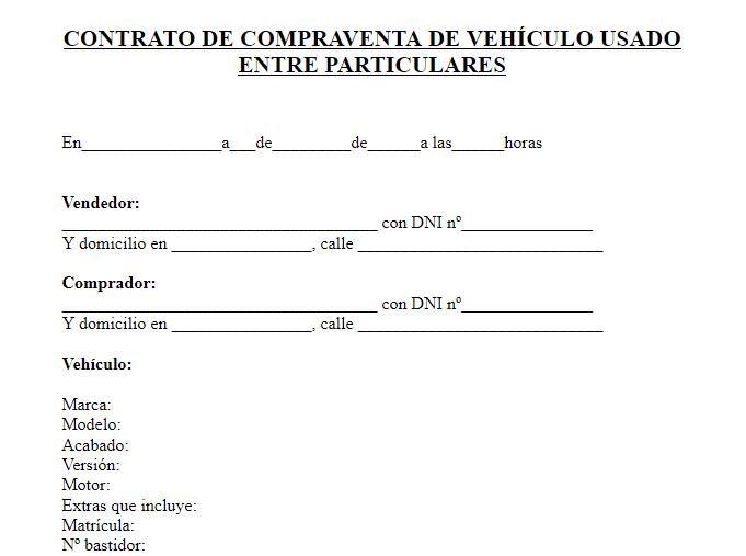 Descargar Plantilla Para Compra Venta De Vehículo 2021