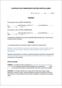 Descargar Plantilla para contrato compra/venta