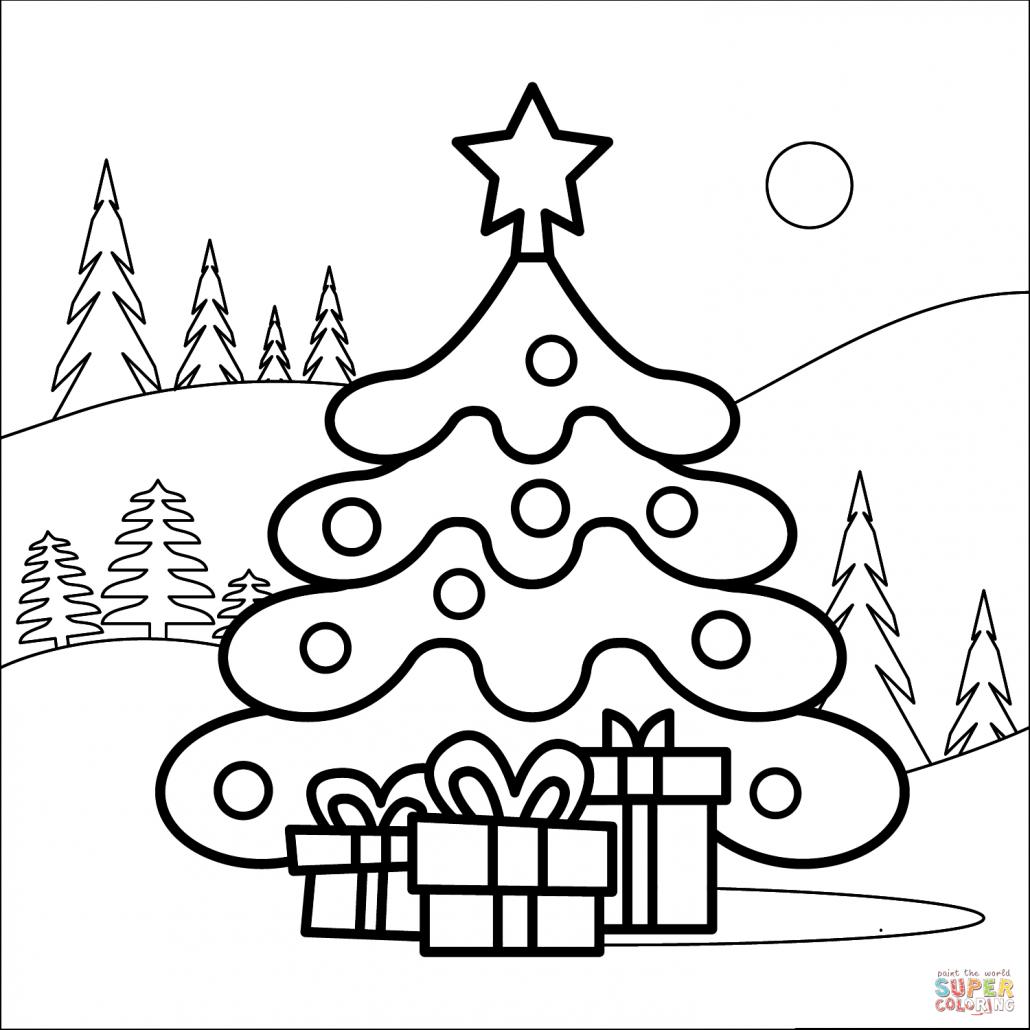 dibujo arbol navidad