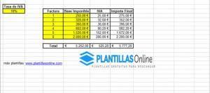 plantilla calcular iva excel
